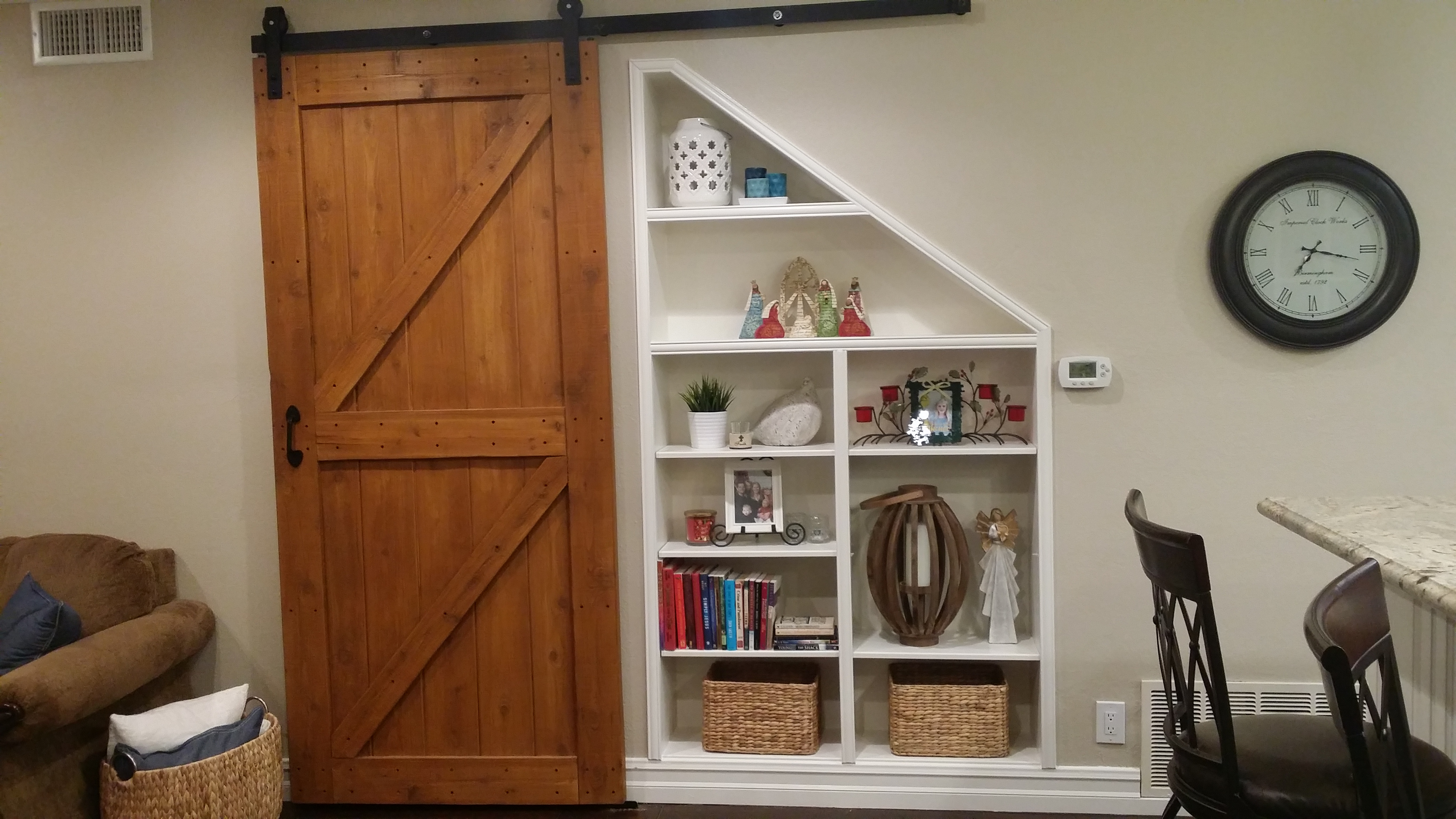 Barn Door and Shelves in Anaheim Hills
